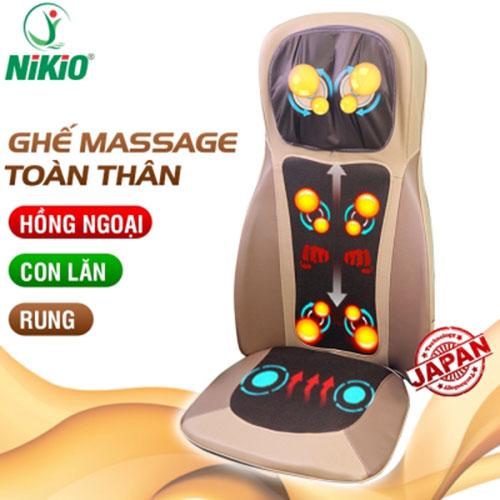 Video REVIEW ghế massage toàn thân hồng ngoại xoa bóp, rung lắc 2 chiều Nikio NK-180 - Bí quyết chăm sóc sức khỏe tại nhà