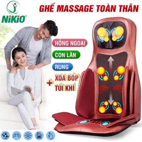 Video Review Ghế massage rung lắc đấm bóp túi khí toàn thân cao cấp Nhật Bản Nikio NK-181