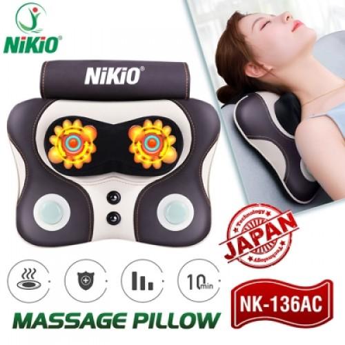 REVIEW Máy massage cổ vai gáy kết hợp đấm bóp lưng Nikio NK-136AC