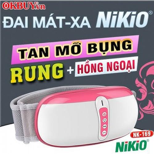 Video giới thiệu đai massage bụng xoa bóp rung lắc giảm mỡ cao cấp Nikio NK-169