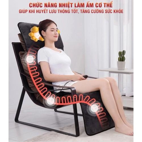 Video giới thiệu nệm massage toàn thân xoay, nhiệt, rung có gối mát xa cổ Nikio NK-151