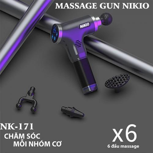 Video giới thiệu súng massage gun giảm căng cơ bắp Nikio NK-171 - Xám, 5 chế độ mát xa