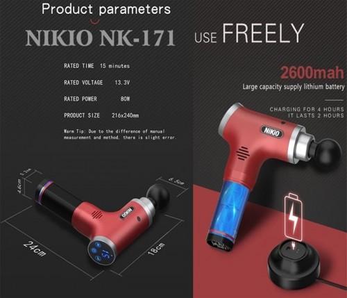 Video giới thiệu chi tiết súng massage giãn cơ công nghệ Nhật Bản Nikio NK-171 - Đỏ tím